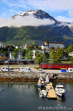 Free Small Fishing Village, Fjord, Norway Royalty Free Stock Image - 23226096