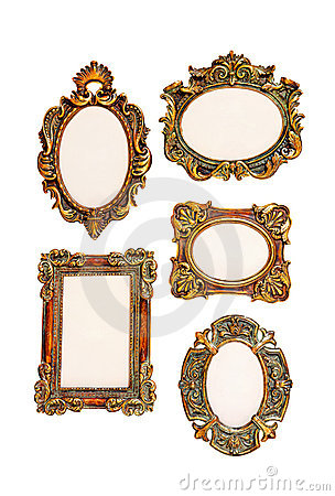small vintage frames stock images image 902134