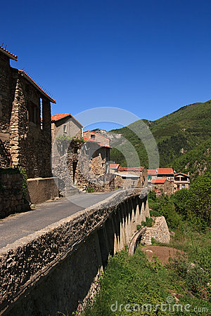 Small French Village in Pyrenees