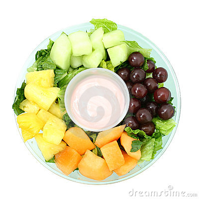 Small Fruit Tray and Yogurt