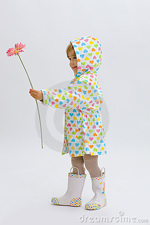 Free Small Girl Giving Flower Stock Images - 9019564