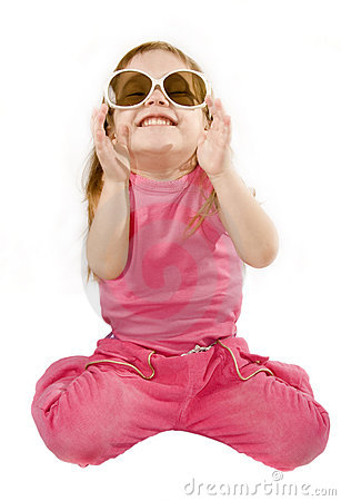 Free Small Girl Is Posing And Laugh Royalty Free Stock Image - 7853676