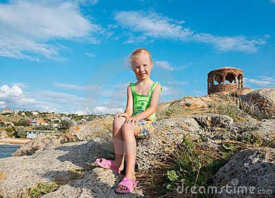 Small girl outdoor portrait