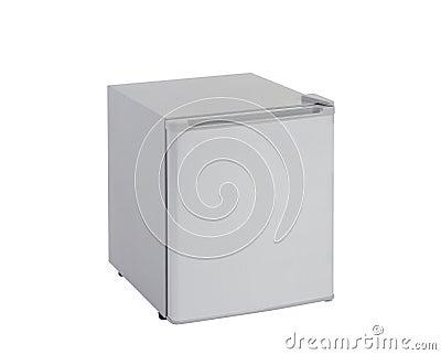 Small gray refrigerator