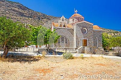 Small Greek church on the coast