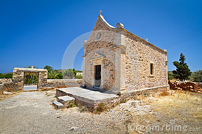 Small Greek church at Moni Toplou monastery