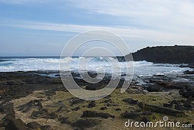 Small Green Sand Beach Hawaii
