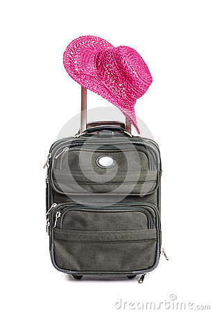 Small Green Travel Luggage Isolated #4