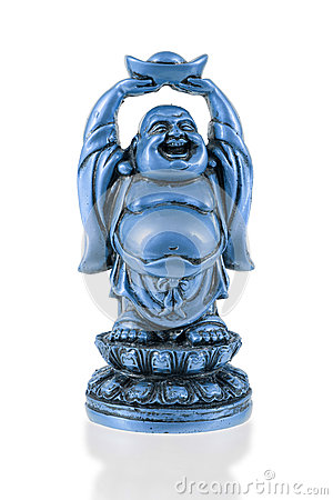 Free Small Happy Buddha Standing Royalty Free Stock Images - 45643279