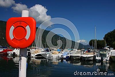Small Harbor in Aix-Les-Bains