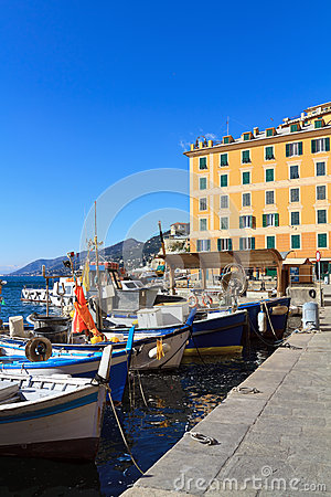Liguria - harbor in Camogli