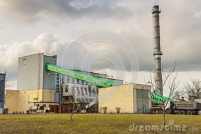 Small  heating plant in Poland.