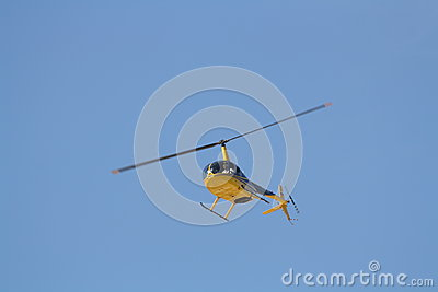 Small helicopter in flight Editorial Photo
