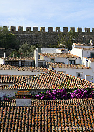 Small Historical European town Obidos