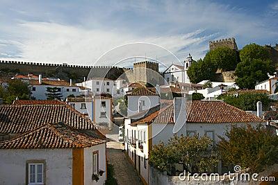 Small Historical European town Obidos