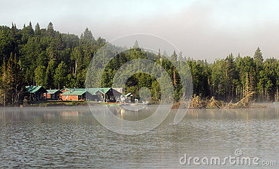 Small hotel on a wild lake