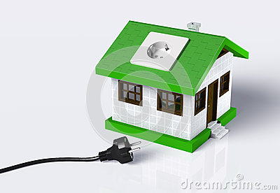 Small House Disconnected To The Electric Current Royalty Free ...