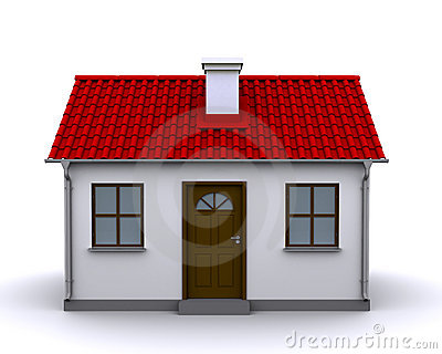 Small house, front view Editorial Stock Photo