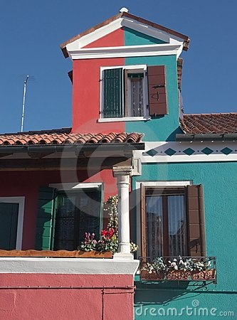 Small house from the island of Burano