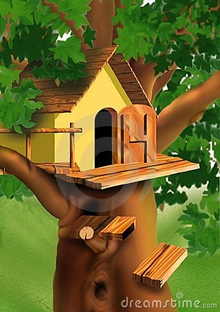 Free Small House On The Tree Top Royalty Free Stock Photos - 2248248