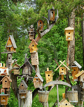 Small houses for birds