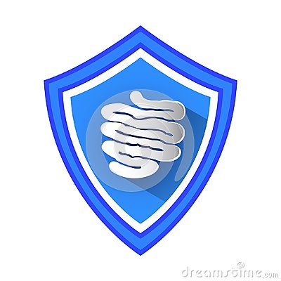 Free Small Intestine Protection Shield. Stock Photos - 114350603