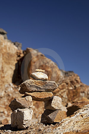 A small inukshuk