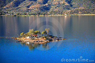 Small island in Aegean sea