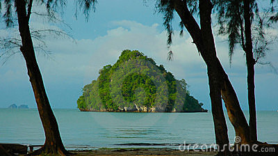 Small island off Ao Nang, Krabi, Thailand