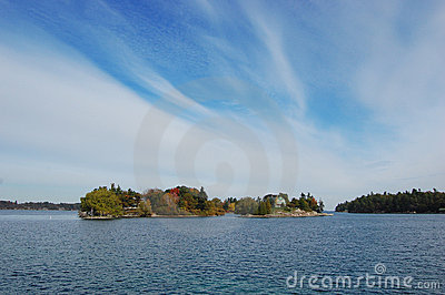 Small Island in Thousand Islands Region, New York