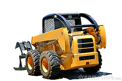 Small Isolated Tractor Loader