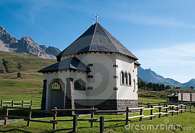 Small Italian church - Dolomites, Italy
