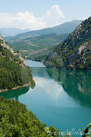 Small lake in the Pyrenees