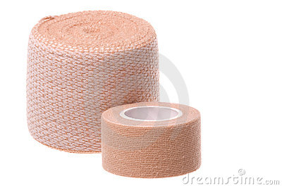 Small and Large Bandages Macro Isolated