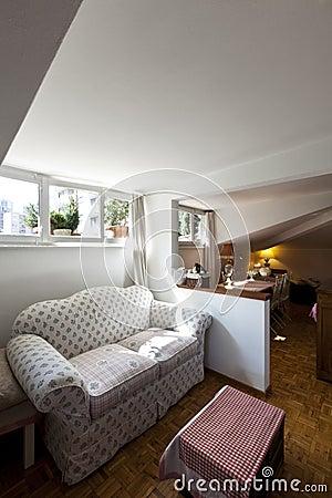Small loft furnished, livingroom