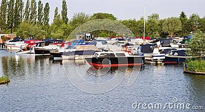 Small marina with yachts