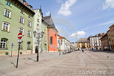 The Small Market Square in Cracow Editorial Photography
