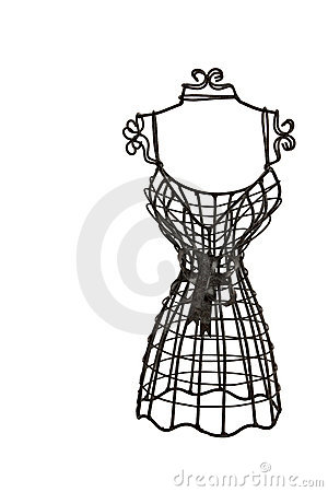 Small metallic Dress Form