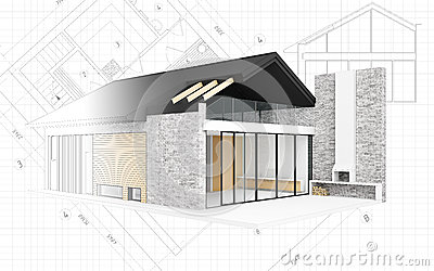 Small modern house project