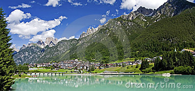 Small Mountain Town of the Dolomites