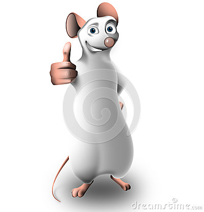 Small mouse in a positive pose