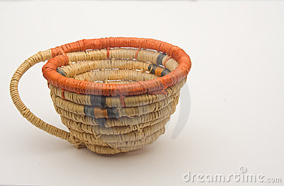 Small Native American handmade woven basket