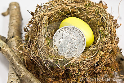 Small Nest Egg / Old Silver Dollar