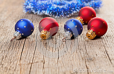 Small New Year decoration balls