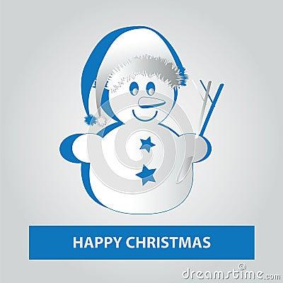 Small paper Snowman