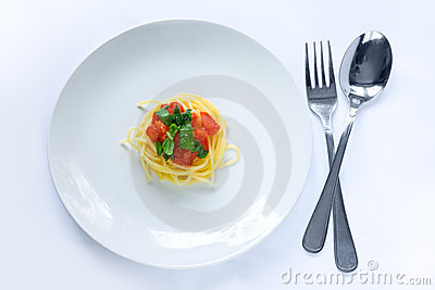 Small pasta portion