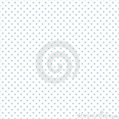 Small Pastel Blue Polka dots on White, Seamless