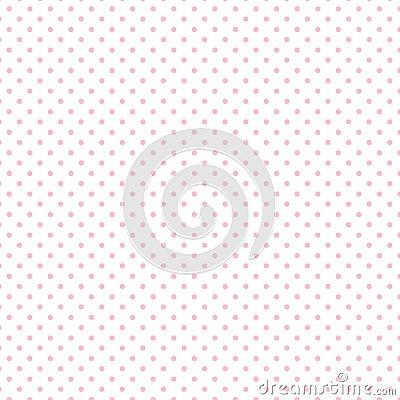 Free Small Pastel Pink Polka Dots On White Stock Photos - 5659153
