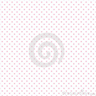 Small Pastel Pink Polka dots on White
