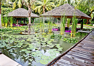 Small pavillions in lotus pond 3